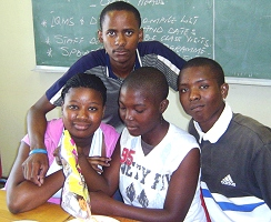 Sinathemba (16Y); front from left to right - Tuliso (17Y); Nontlantla (15Y); Bongani (19Y).